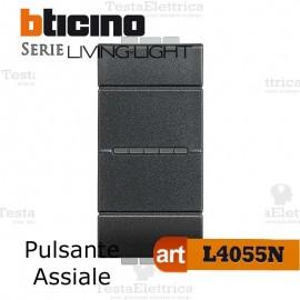 Pulsante assiale 1P Antracite Bticino LivingLight
