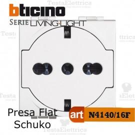 Presa FLAT standard tedesco Bianca Bticino LivingLight