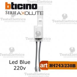 Spia Led Blu 230Vac per moduli Assiali Bticino