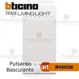Pulsante 1P NO 10 A 250 Vac - bianco Bticino LivingLight