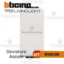 Deviatore assiale 1P  Bianco Bticino LivingLight