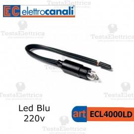 Spia Led Blu 220v per moduli Basculanti Elettrocanali