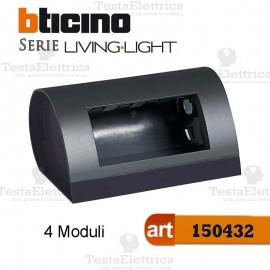 Cassetta da tavolo per 4 Moduli LivingLight Bticino