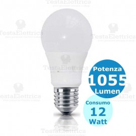Lampadina a led goccia 12 Watt E27