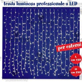 Tenda Luminosa a Led pofessionale altezza 2,50 metri prolungabile GTR