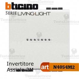 Invertitore 1P 2 moduli  Bticino LivingLight Bianco