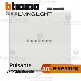 Pulsante 1P 2 moduli  Bticino LivingLight Bianco