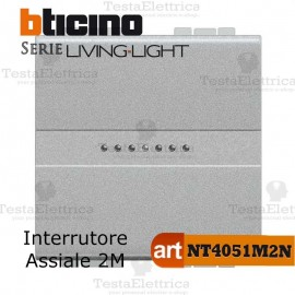 Interruttore 1P 2 moduli Bticino LivingLight Tech