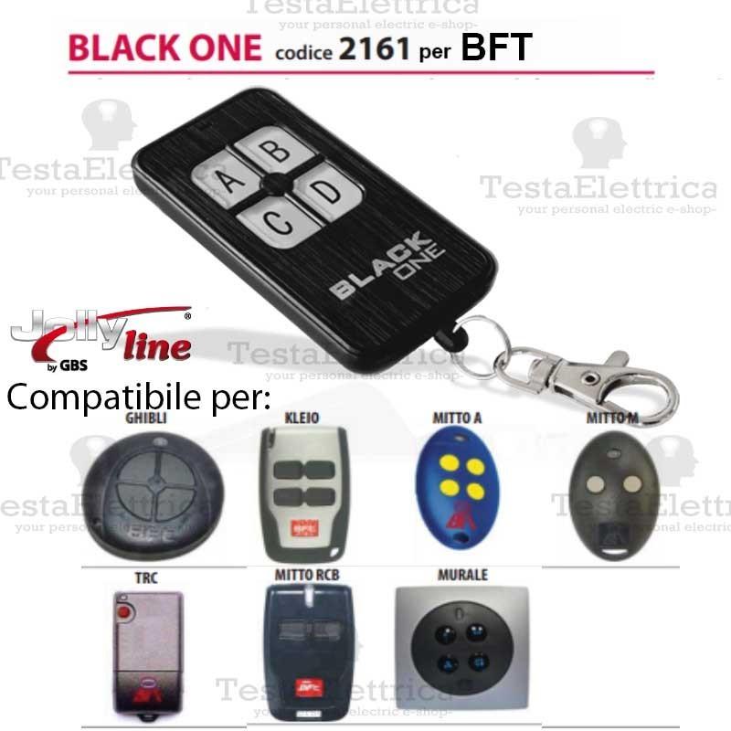 Telecomando Universale Cancelli Compatibile Bft Balck One 2161 Jollyline