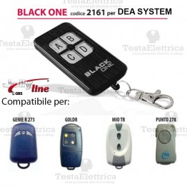 Black One 2161 Radiocomando compatibile DEA SYSTEM Gbs JollyLine