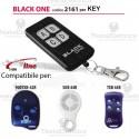 Telecomando compatibile KEY auto apprendente BlackOne