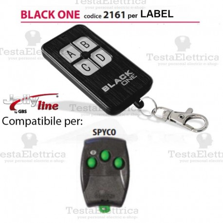 Black One 2161 Radiocomando compatibile LABEL Gbs JollyLine