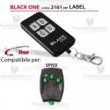 Telecomando compatibile LABEL  auto apprendente BlackOne