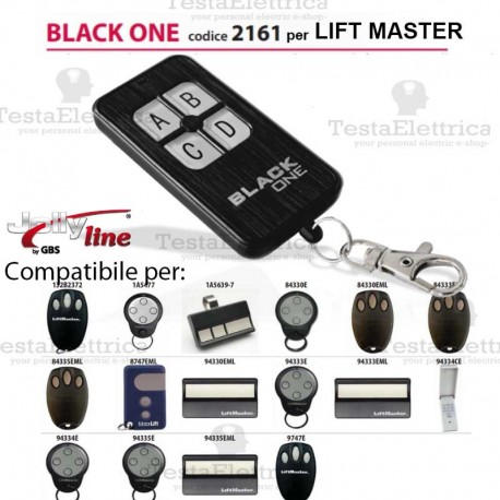 Black One 2161 Radiocomando compatibile LIFT MASTER Gbs JollyLine