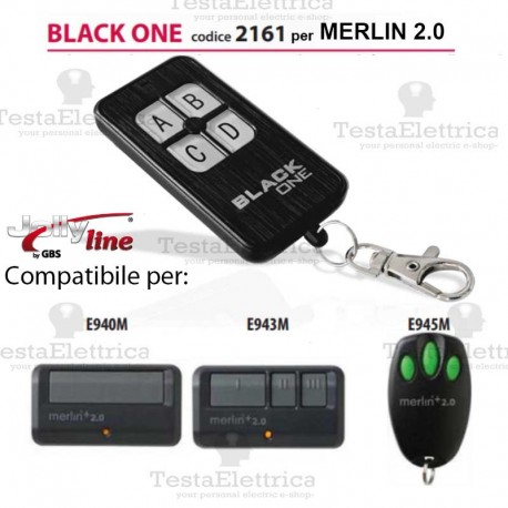 Black One 2161 Radiocomando compatibile merlin 2.0 Gbs JollyLine