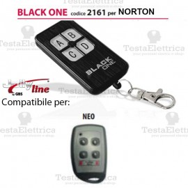 Telecomando compatibile NORTON auto apprendente BlackOne