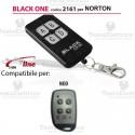Telecomando compatibile NORTON auto apprendente BlackOne