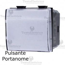 Pulsante portanome compatibile con serie Bticino Matix