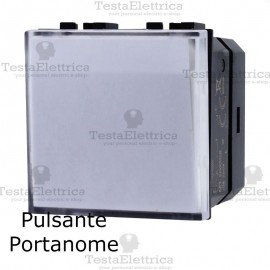 Pulsante portanome  compatibile con serie Bticino LivingLight