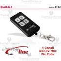 Radiocomando universale auto apprendente codice fisso black 4 jolly line