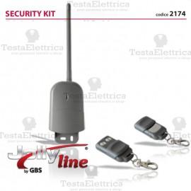 Kit ricevitore da esterno a 433,92 Mhz + 2 radiocomandi Rolling Code
