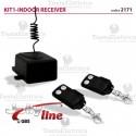 Kit ricevitore da interno a 433,92 Mhz + 2 radiocomandi Fix Code