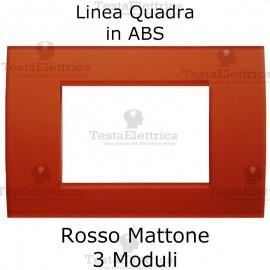 Placchetta rosso mattone compatibile con serie Bticino Matix