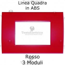 Placchetta rossa compatibile con serie Bticino Matix