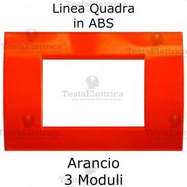 Placchetta Arancione compatibile con serie Bticino Matix
