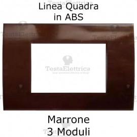 Placchetta marrone compatibile con serie Bticino Matix