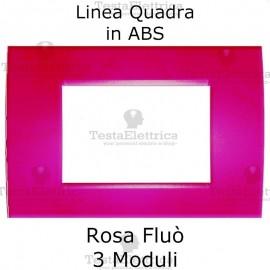 Placchetta rosa fluo compatibile con serie Bticino Matix