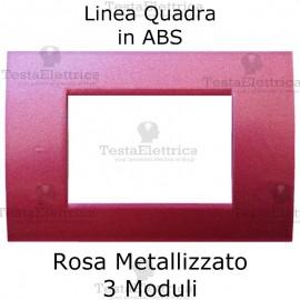 Placchetta rosa metallizzato compatibile con serie Bticino Matix