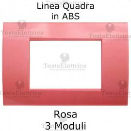 Placchetta rosa compatibile con serie Bticino Matix