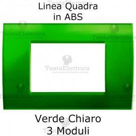 Placchetta verde chiaro compatibile con serie Bticino Matix