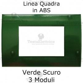 Placchetta verde scuro compatibile con serie Bticino Matix