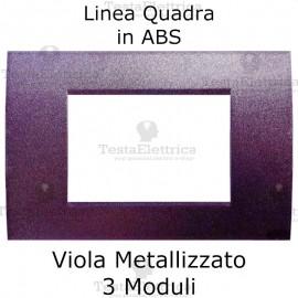 Placchetta viola metallizzato compatibile con serie Bticino Matix