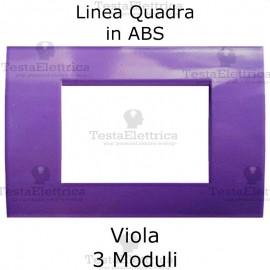 Placchetta viola compatibile con serie Bticino Matix