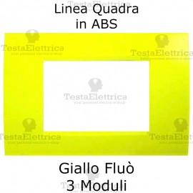 Placchetta giallo Fluò compatibile con serie Bticino Matix