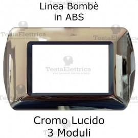 Placchetta Cromo Lucido compatibile e adattabile Bticino Living Light