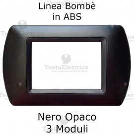 Placchetta Nero Opaco compatibile e adattabile Bticino Living Light
