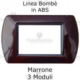 Placchetta Marrone compatibile e adattabile Bticino Living Light