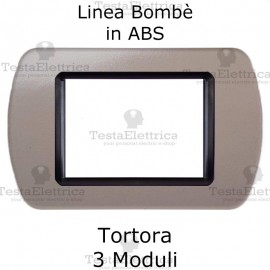 Placchetta Tortora compatibile e adattabile Bticino Living Light