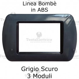 Placchetta Grigio Scuro compatibile e adattabile Bticino Living Light