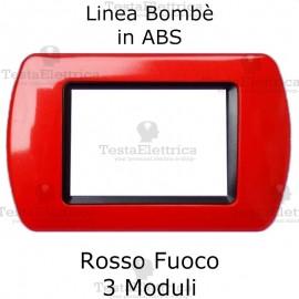 Placchetta Rosso Fuoco compatibile e adattabile Bticino Living Light