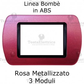 Placchetta Rosa Metallizzato compatibile e adattabile Bticino Living Light