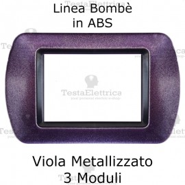 Placchetta Viola Metallizzato compatibile e adattabile Bticino Living Light