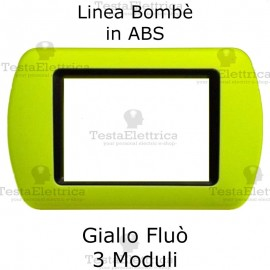 Placchetta Giallo Fluò compatibile e adattabile Bticino Living Light