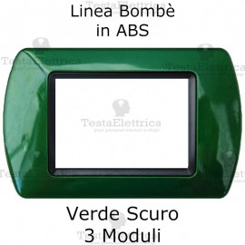 Placchetta Verde Scuro compatibile e adattabile Bticino Living Light