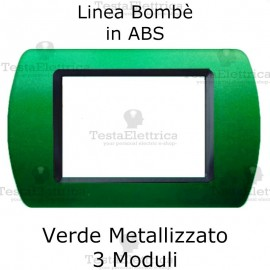 Placchetta Verde Metallizzato compatibile e adattabile Bticino Living Light