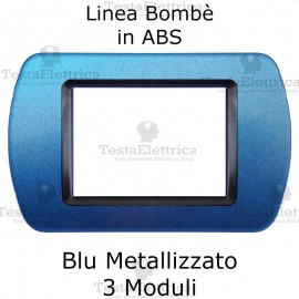 Placchetta Blu Metallizzato compatibile e adattabile Bticino Living Light